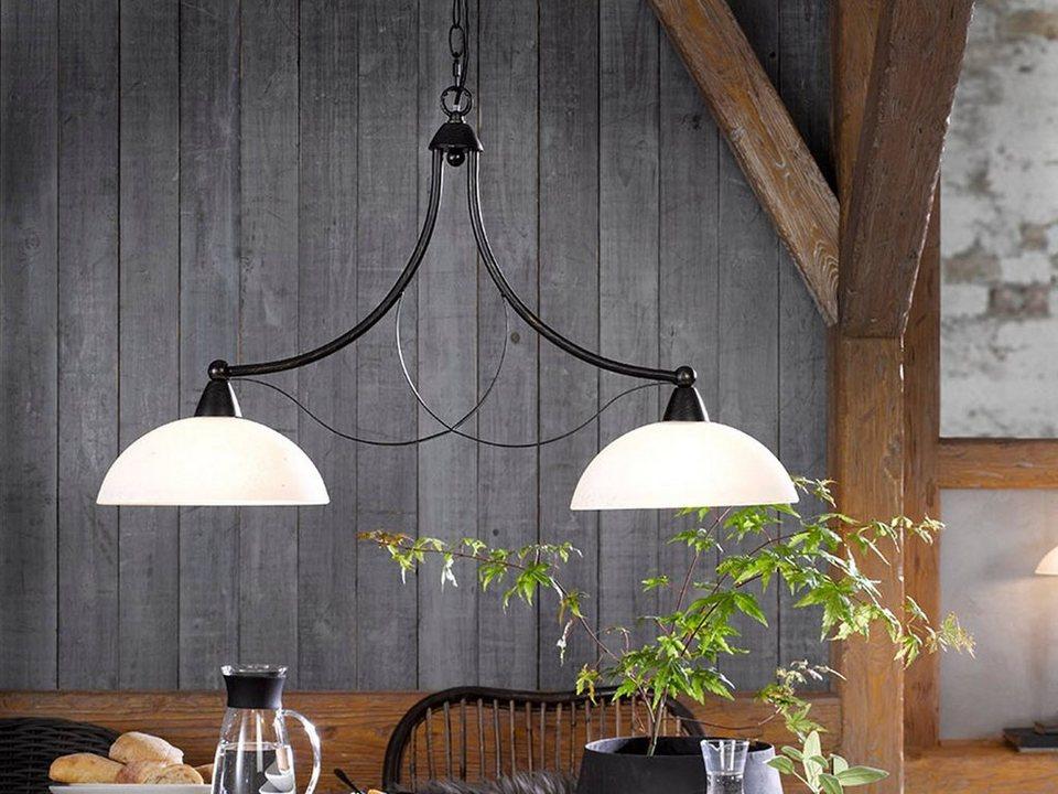 fischer & honsel led pendelleuchte, mit glas lampenschirm