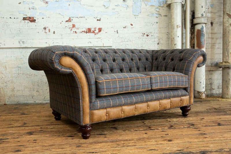 JVmoebel Chesterfield-Sofa, Chesterfield 2 Sitzer Garnitur Design Sofa Couch 185 cm