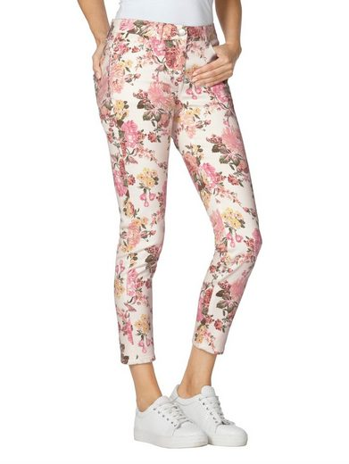 Amy Vermont 7/8-Jeans mit floralem Muster allover