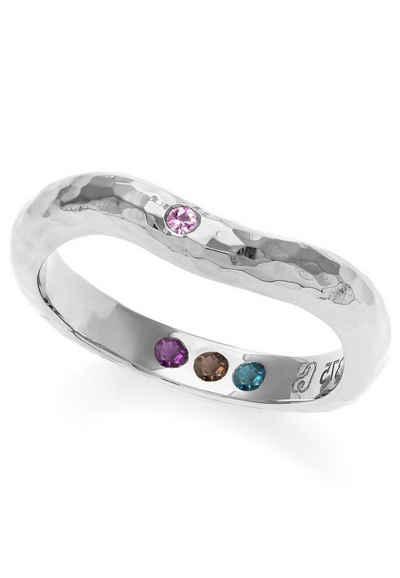 Carolin Stone Jewellery Silberring »Gehämmert mit Steinen Hidden Inner Strength Ring«