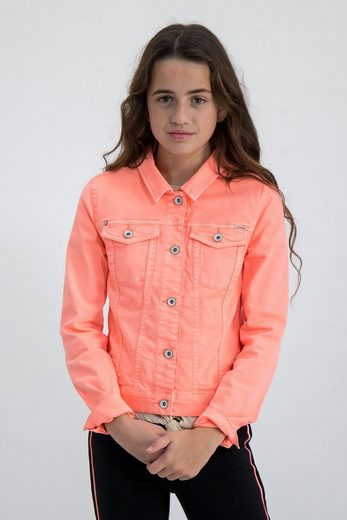 Garcia Jeansjacke mit auffälliger Neonfarbe