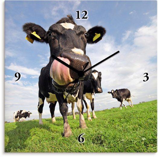 Artland Wanduhr »Holstein-Kuh mit gewaltiger Zunge«