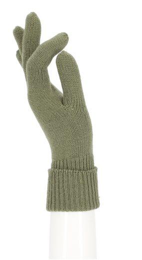 halsüberkopf Accessoires Strickhandschuhe »Strickhandschuh Unifarben« Strickhandschuhe mit breitem Umschlag