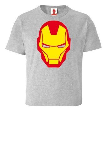LOGOSHIRT Marškinėliai su großem Iron Man-Druck