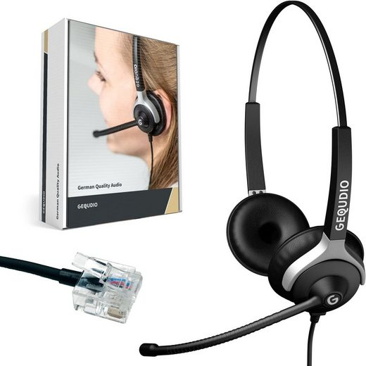 GEQUDIO Headset (Headset 2-Ohr für Unify mit Kabel)