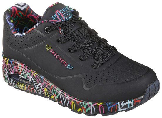 Skechers »UNO-LOVING LOVE« Wedgesneaker mit coolem Graffiti-Print