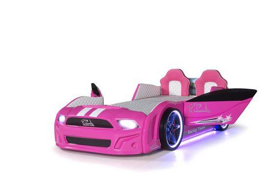 Möbel-Lux Kinderbett »Must Rider«, Kinderbett Must Rider in Pink mit Sitzen