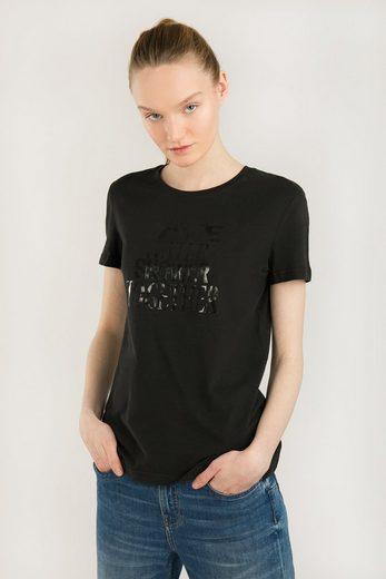 Finn Flare T-Shirt mit Statement-Print auf der Brust