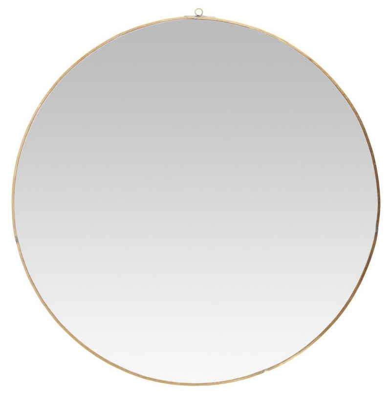 Ib Laursen Spiegel »Wandspiegel Spiegel Rund 59cm Rahmen Metall Messing Gold Ib Laursen 9689-17«
