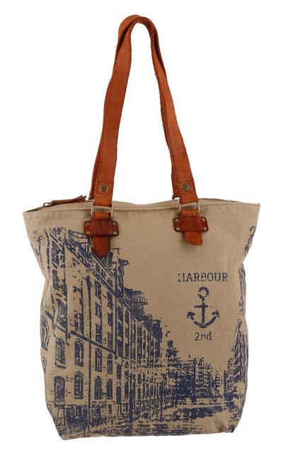 HARBOUR 2nd Shopper »Annen«, mit Lederhenkel