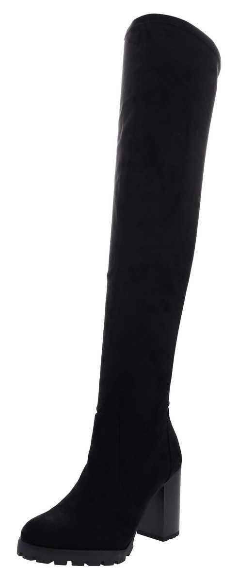 Buffalo »MADYSON Damen Overknee Schwarz« High-Heel-Stiefelette