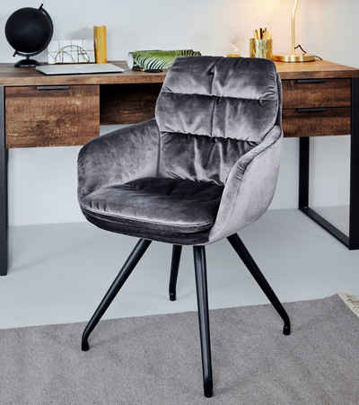 Jahnke Schalenstuhl »CHELSEA TWISTLOCK ESSZIMMERSTUHL« (Set, 1 Stück), Drehbar mit TwistLock - Stuhl dreht sich automatisch in Ausgangsposition zurück