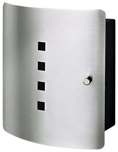 Burg Wächter Schlüsselkasten »QUAD 6204/10 Ni«, Designer-Edelstahltür, mit 10 Haken