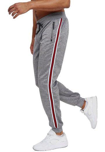 Max Men Jogginghose »3596« Herren Basic Jogger Sport Trainingshose Sport Hose Zip Taschen