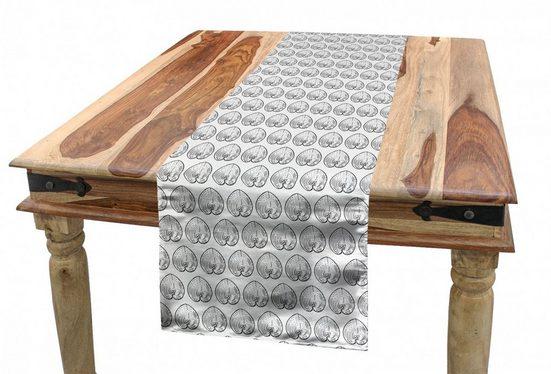 Abakuhaus Tischläufer »Esszimmer Küche Rechteckiger Dekorativer Tischläufer«, Nautisch Herzform wie Shell Kunst