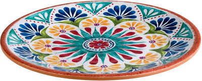 APS Teller »Arabesque«, Terrakotta-Optik, spülmaschinengeeignet, Ø 26,5 cm