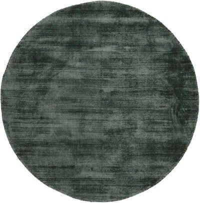 Teppich »Ava«, carpetfine, rund, Höhe 13 mm, Viskoseteppich, Seidenoptik, Wohnzimmer