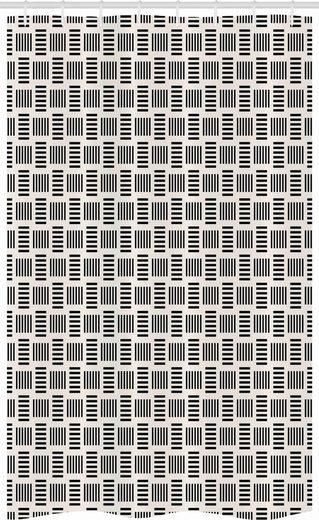 Abakuhaus Duschvorhang »Badezimmer Deko Set aus Stoff mit Haken« Breite 120 cm, Höhe 180 cm, Abstrakt Moderne Bold Linien