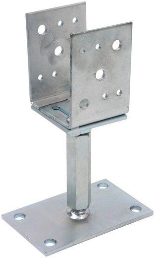 RAMSES Pfostenträger, seiten- und höhenverstellbar, 65-155 x 120-200 mm