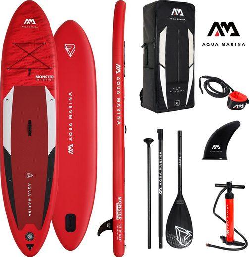 Aqua Marina Inflatable SUP-Board »AQUA MARINA Inflatable SUP-Board ++Monster++«, (Set, 6 tlg)