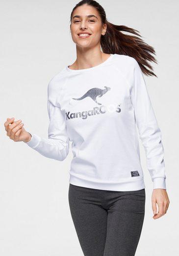 KangaROOS Sweater mit großem Label-Print vorne