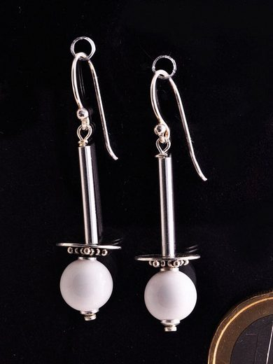 Adelia´s Paar Ohrhänger »Edelstein Muschel Ohrhänger Ohrringe 925 Silber«