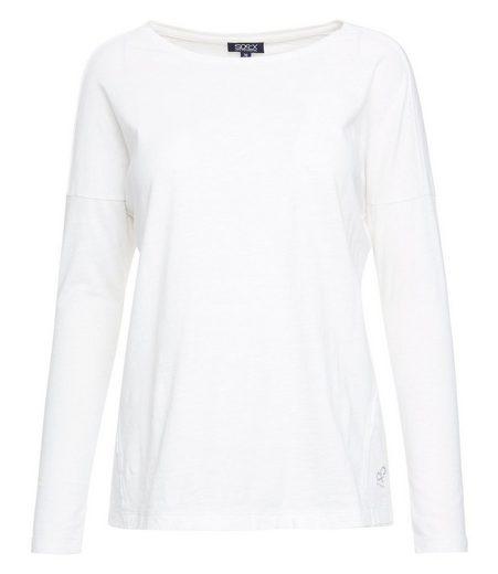 SOCCX Langarmshirt mit Glitter-Print