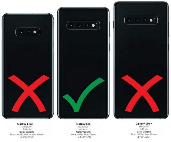 Burkley Flip Case »Samsung Galaxy S10 Leder Handyhülle Handytasche«