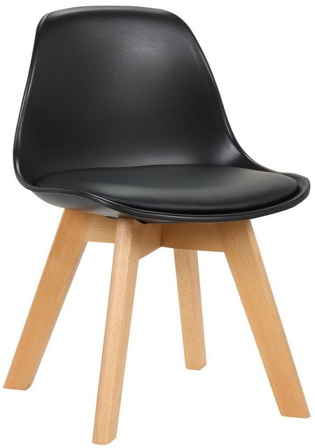 Stühle und Bänke - CLP Esszimmerstuhl »Lindi Kunststoff« Kunstlederbezug und Gestell aus Buchenholz  - Onlineshop OTTO
