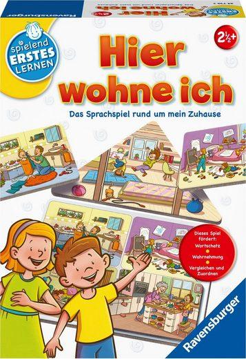 Ravensburger Spiel, Kinderspiel »Hier wohne ich«, Made in Europe; FSC® - schützt Wald - weltweit