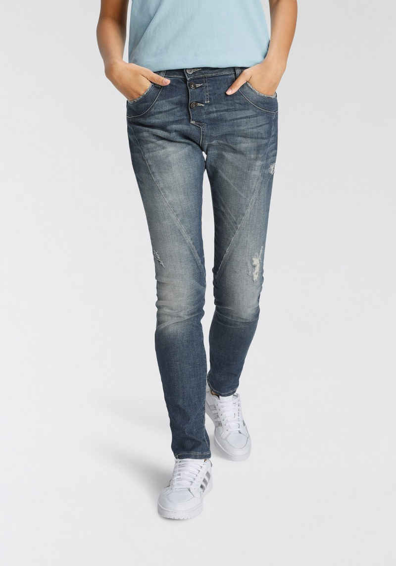 Please Jeans Boyfriend-Jeans »P 78A« mit leichtem Destroyed Effekt