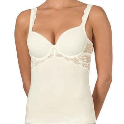Nina Von C. T-Shirt-BH »Silver Edition BH-Hemd / Top mit Spacer Cup« (1-tlg) Mit Spitzen-Details, Perfekte Passform, Zaubert ein tolles Dekolleté
