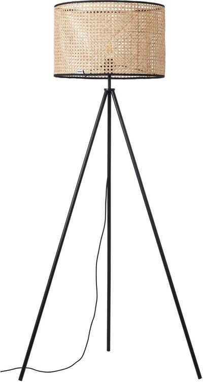 COUCH♥ Stehlampe »feines Geflecht«, Stehleuchte mit Wiener Geflecht Schirm, COUCH♥ Lieblingsstücke, Retro, standfestes Dreibein