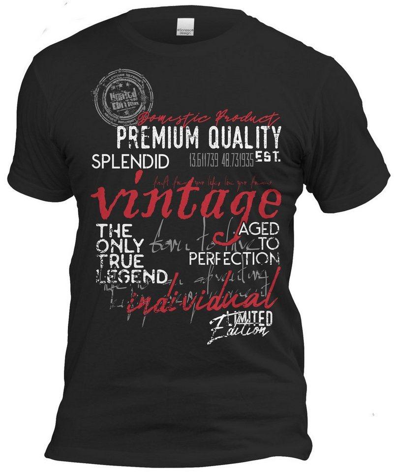 soreso® -  T-Shirt »Retro Vintage T-Shirt Geburtstag Jahrgang 1940« (2-tlg)