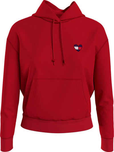 Tommy Jeans Kapuzensweatshirt »TJW Bxy Homespun Heart Hoodie« mit Tommy Jeans Logo in Herzform