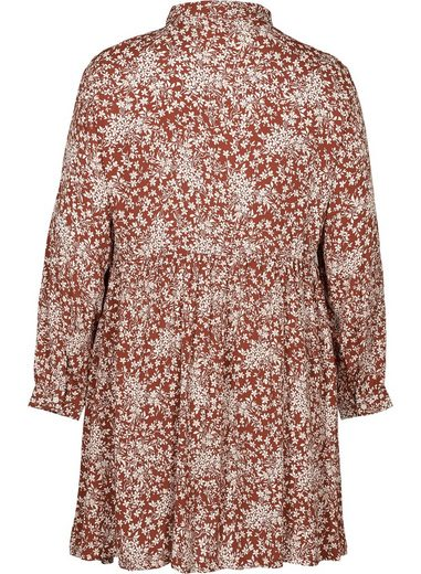 Zizzi Tunika Große Größen Damen Tunika aus Viskose mit Blumenprint