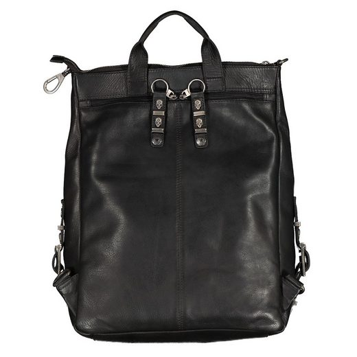 JACK'S INN 54 Cityrucksack »Tuxedo«, aus Leder, kann als Rucksack oder Umhängetasche getragen werden