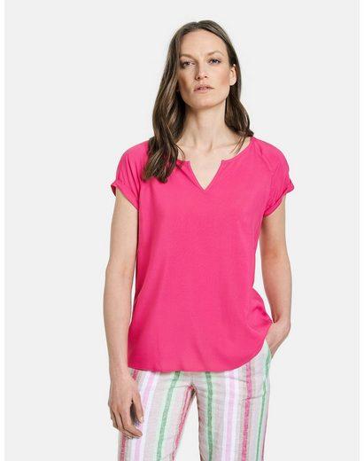 GERRY WEBER Klassische Bluse »Blusenshirt aus Viskose« figurumspielend