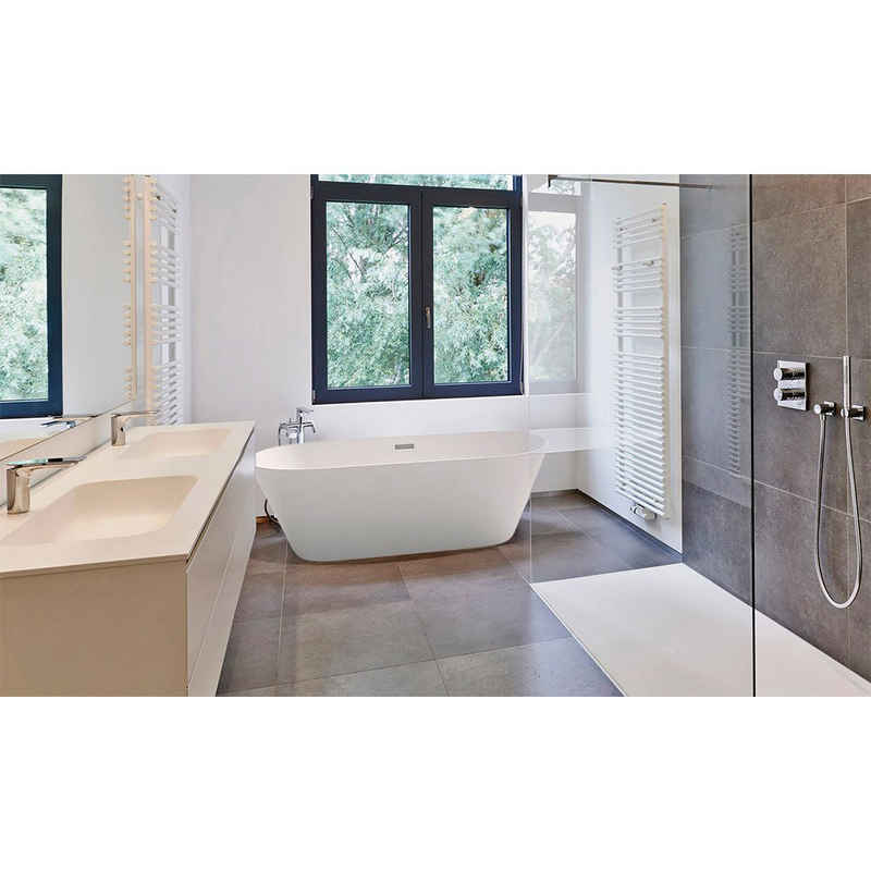 HOME DELUXE Badewanne »Toskana«, (3-tlg), B/T/H: 170 / 80 / 58 cm, freistehend