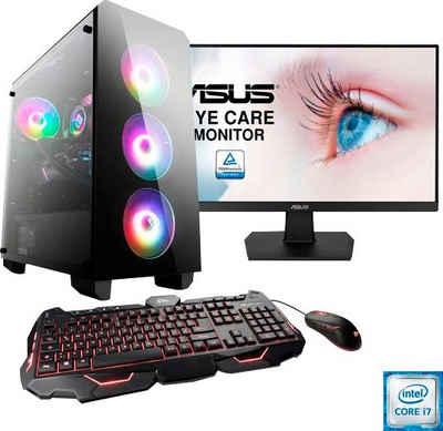 CSL »HydroX T9785« PC-Komplettsystem (27 Zoll, Intel Core i7, GTX 1650, 16 GB RAM, 1000 GB HDD, 512 GB SSD)