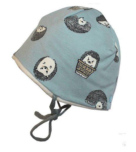 MAXIMO Beanie »maximo Beanie leicht gefütterte Baby Mütze mit süßen Igel-Motiven Winter-Mütze Blau«