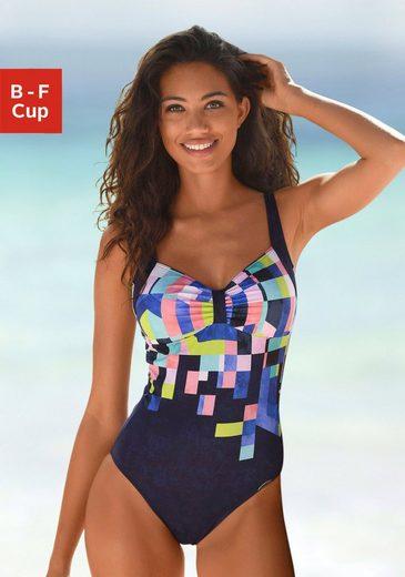 Sunflair Badeanzug, bedruckt und mit Shaping-Effekt