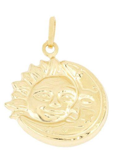 Firetti Kettenanhänger »Sonne und Mond, tlw. glänzend, tlw. satiniert«