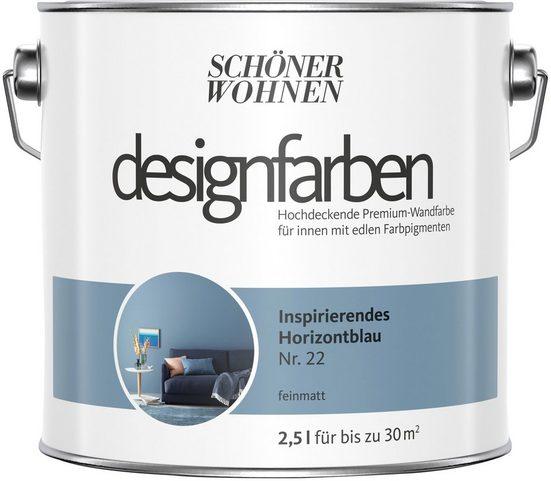 SCHÖNER WOHNEN FARBE Farbe »Designfarben«, Inspirierendes Horizontblau Nr. 22, feinmatt 2,5 l