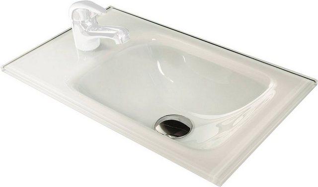 Fackelmann Glas-Waschbecken 45 cm Weiß