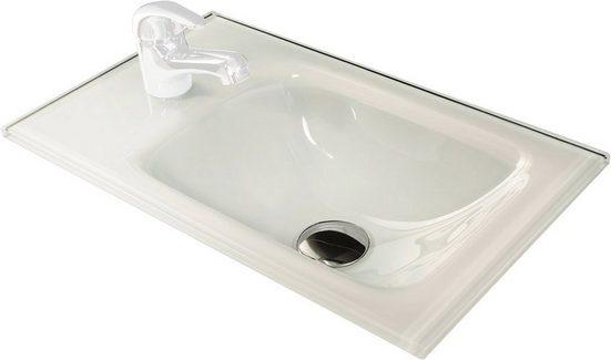 FACKELMANN Glas-Waschbecken »Gäste-WC«, Breite 45 cm, für Gäste-WC