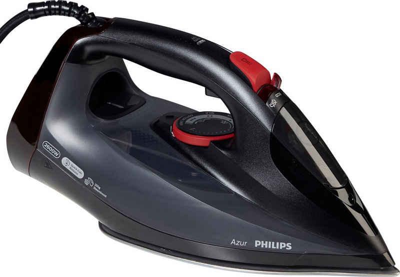 Philips Dampfbügeleisen GC4567/80 Azur, 2600 W, (250g Dampfstoß, SteamGlide Advanced Bügelsohle, integrierte Kalkkassette) schwarz