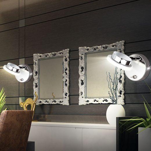 WOFI Wandleuchte, 2er Set LED Wand Leuchte Wohn Ess Schlaf Zimmer Lampe Flur Küchen Beleuchtung