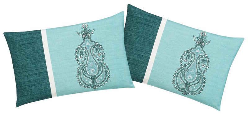 Kissenhüllen »Pira«, Home affaire (2 Stück), mit orientalischem Ornament