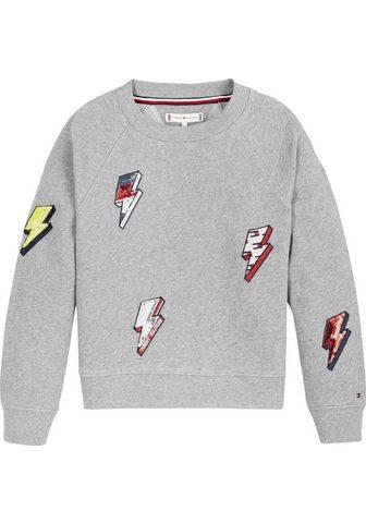 TOMMY HILFIGER Sportinio stiliaus megztinis su Paille...